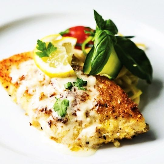 parmesan encrusted white fish