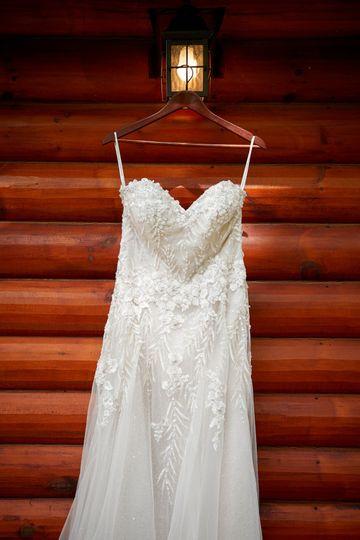 Trevor & Becky, gown