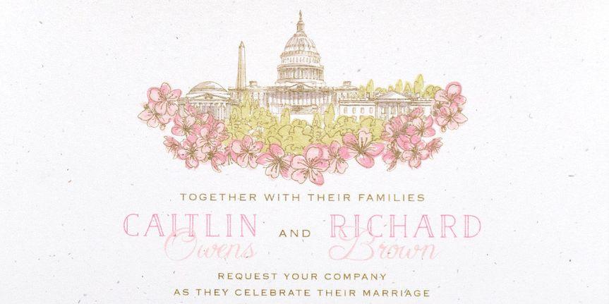 wedding invitaton capitol washington dc