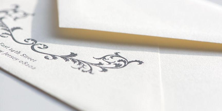 wedding invitaton envelope washington dc