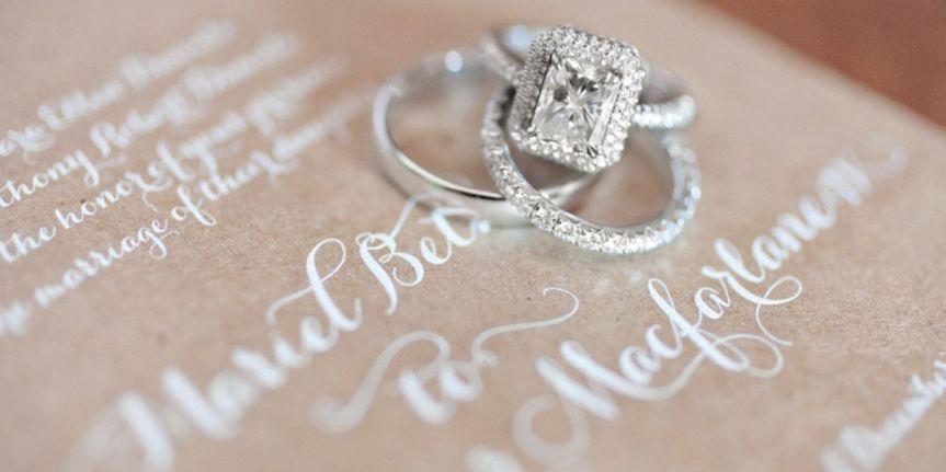 wedding invitaton rings washington dc