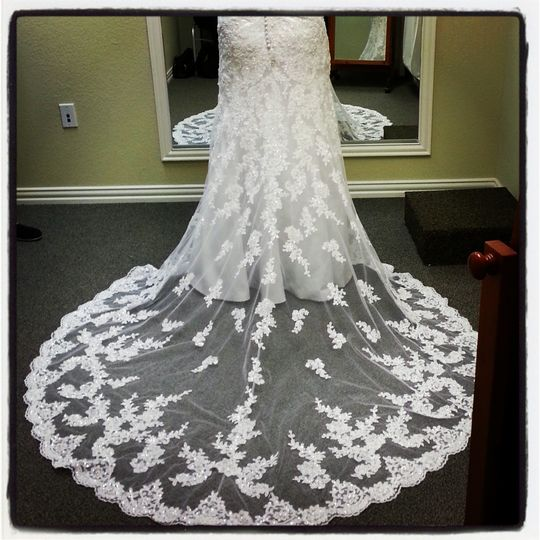 Our talented bridal alterations take care our brides after the dress purchases. The one removed the...