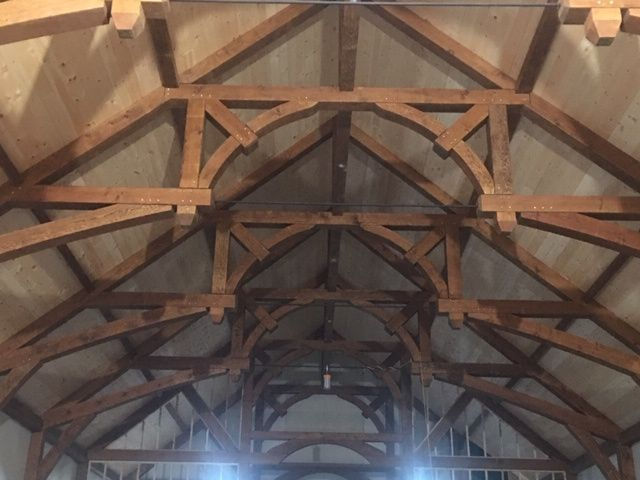Arched timbers - main room