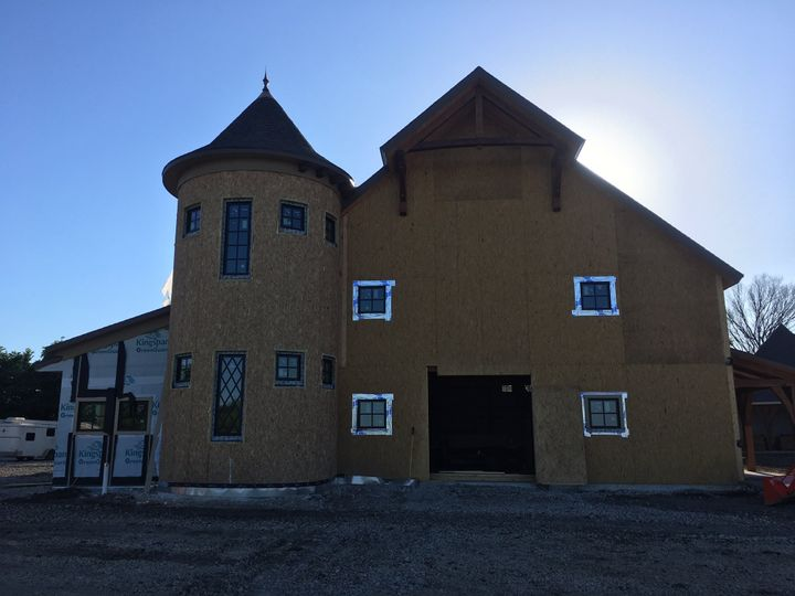 Construction phase of barn