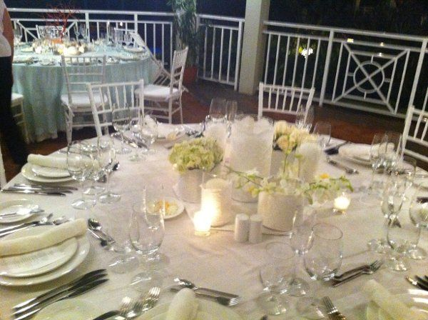 Wedding reception at Sandals Resort