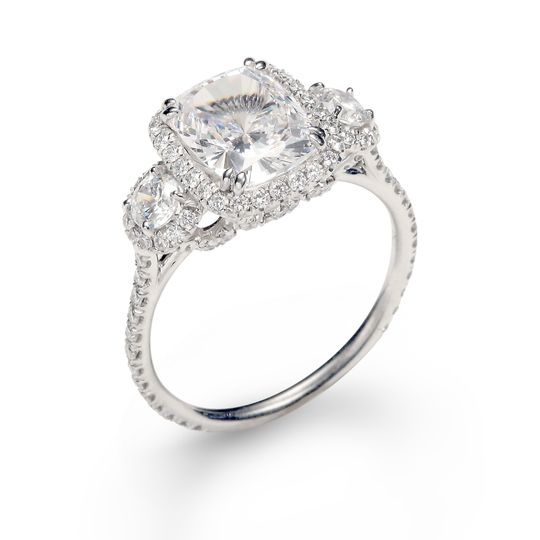A Custom Designed Engagement Ring From Roman Jewelers