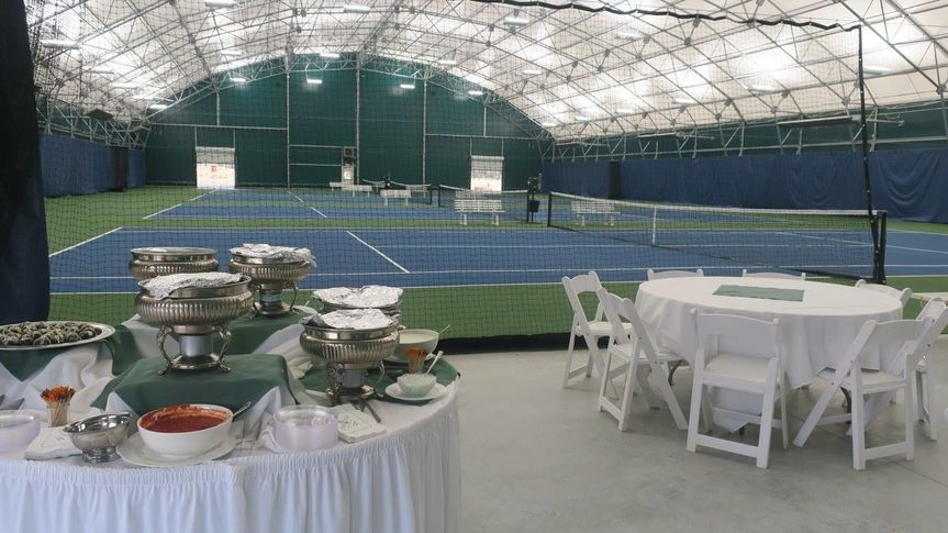 Tennis facilities and reception