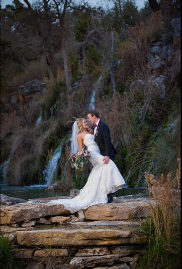 Bride by the waterfalls