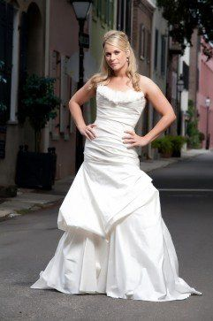 "Lauren Blizzard Ricciardone Modern Trousseau ""Lana"" gown"
