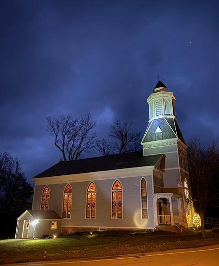 This Old Church at night