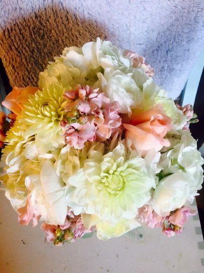 Soft, delicate bridal bouquet
