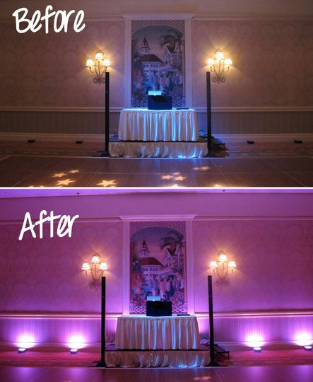 before after wedding lighting disneys grand florid