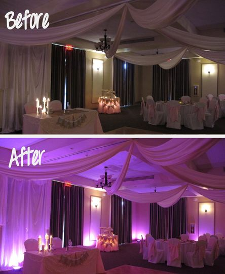 before after wedding lighting harmony reserve