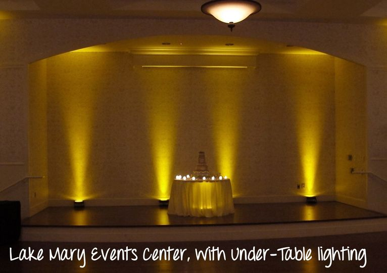 lake mary events center wedding lighting