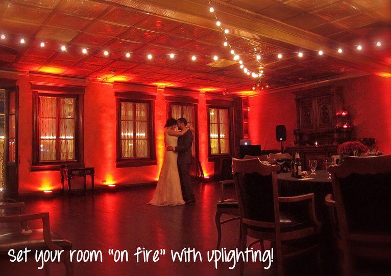 wedding uplighting dancing