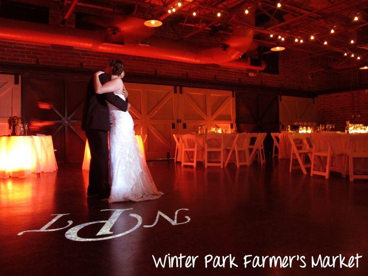 winter park farmers market wedding lights