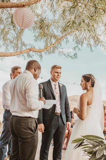 A sunlit ceremony