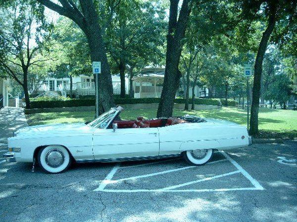 1973 Cadillac Eldorado Convertible with Top Down.