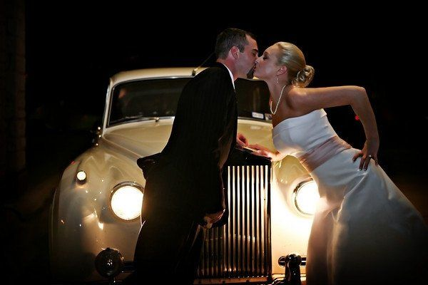 Wedding Couple w 58 Rolls Royce
