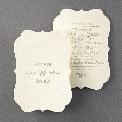 Tmx 1467994138406 Cc Rt35678ec   Posh Plush   Invitation   Ecru Velv Fort Lauderdale, Florida wedding invitation