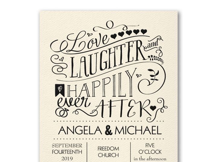 Tmx Cc Laughter Ever After Mm39331et 51 200665 157737116250575 Fort Lauderdale, Florida wedding invitation