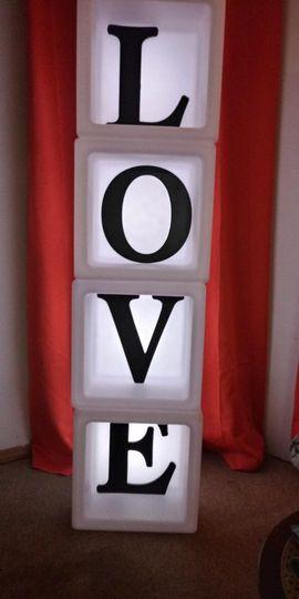 "LED Block ""LOVE"" letters"