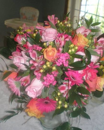 Alyssa-Pinks and oranges to make a beautiful bright bouquet