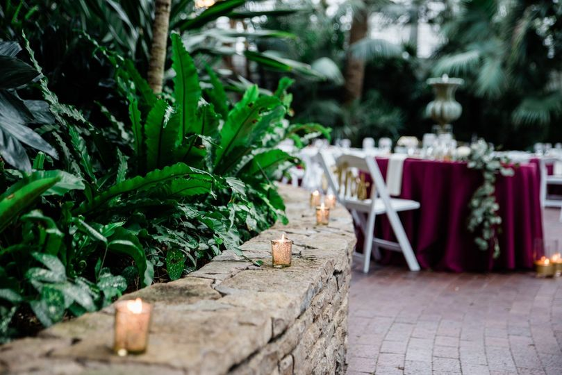 A reception by candlelight