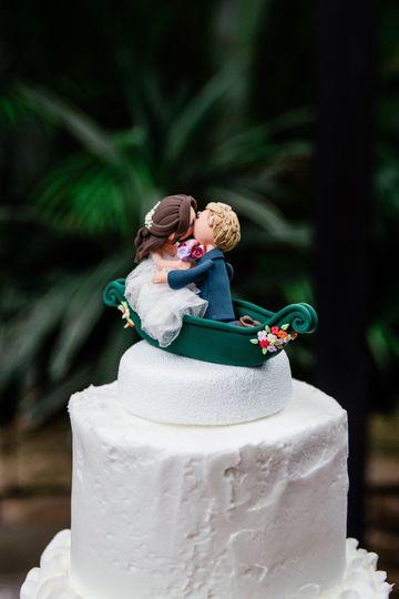 Detailed cake topper