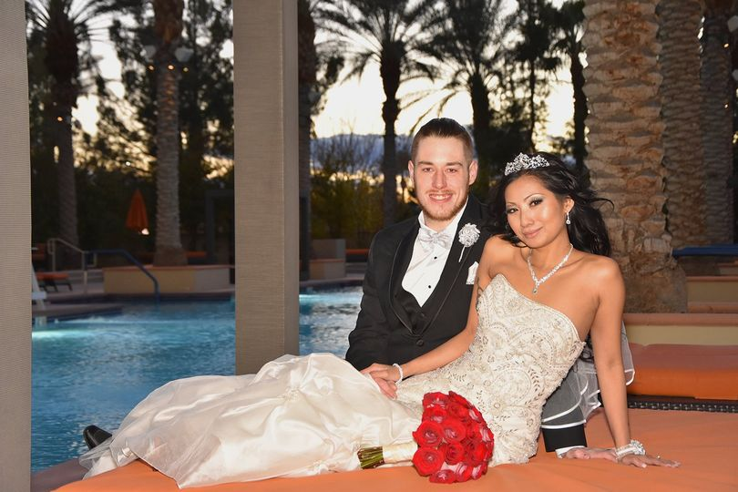 Poolside Wedding Las Vegas