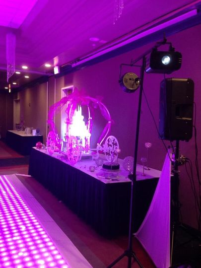 This is an example of cake spotlighting. We take an LED light and shine it on the cake to create a...