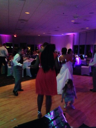 Wedding reception at the Eglin AFB Officer's Club.