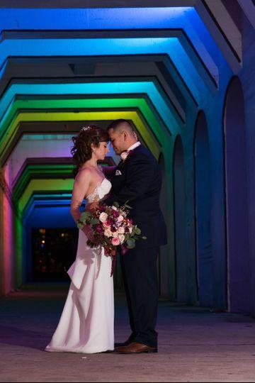 birminghamallight tunnel color wedding1