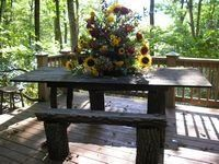 Rhododendron & Barn Wood Gift Table