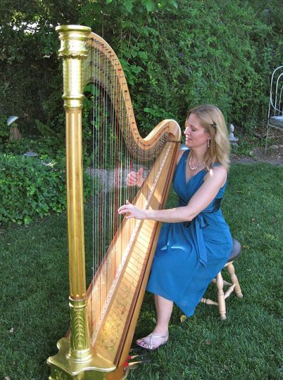 Music for a garden wedding at Ojai's Lavender Inn.