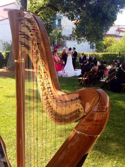 Spring garden wedding at the Santa Barbara Club.