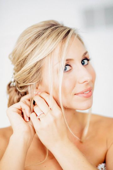 earrings bride greenville country club de wedding