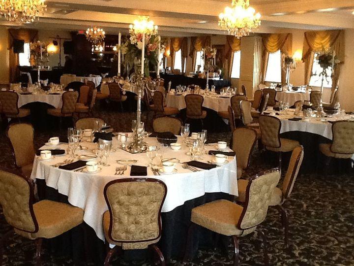 wedding ceremony reception area