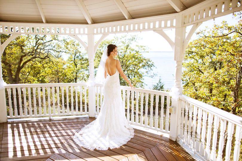 "Bride preparing to say ""I do"""