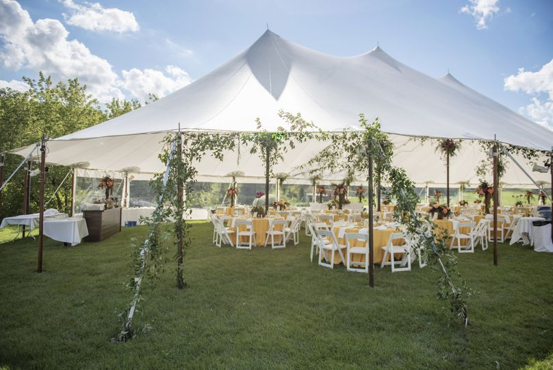 Beautiful outside Wedding reception in the summer of 2016.