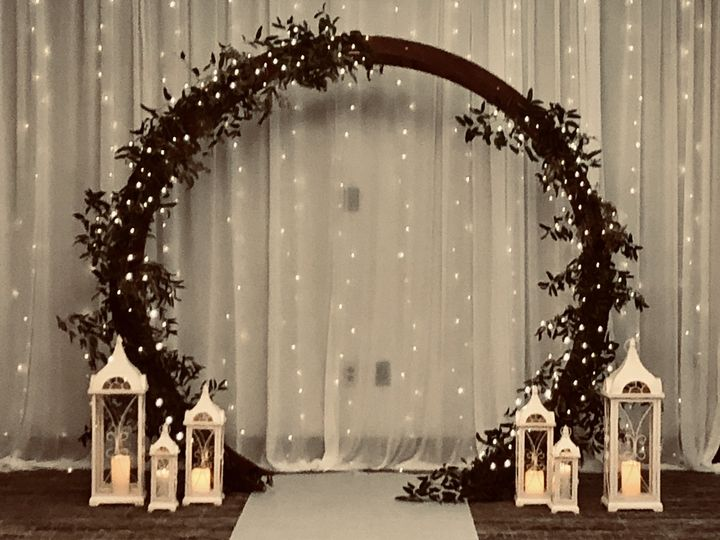 Arch and backdrop