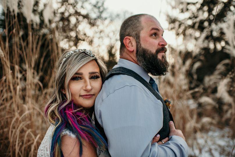 Bride gaze