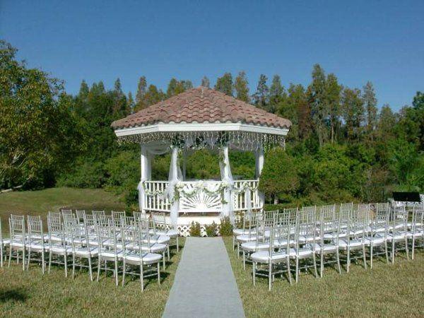 Gazebo wedding setup