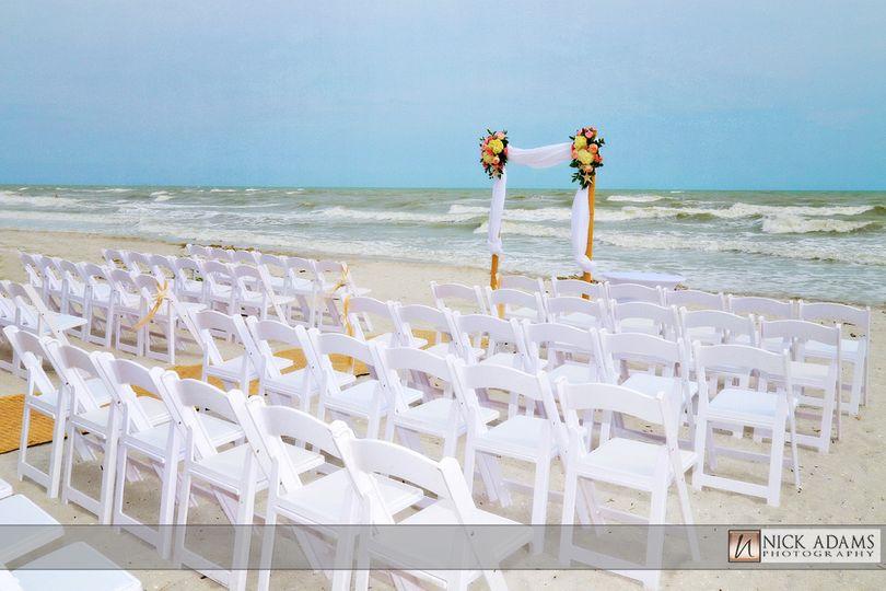 Wedding ceremony venue by the beach