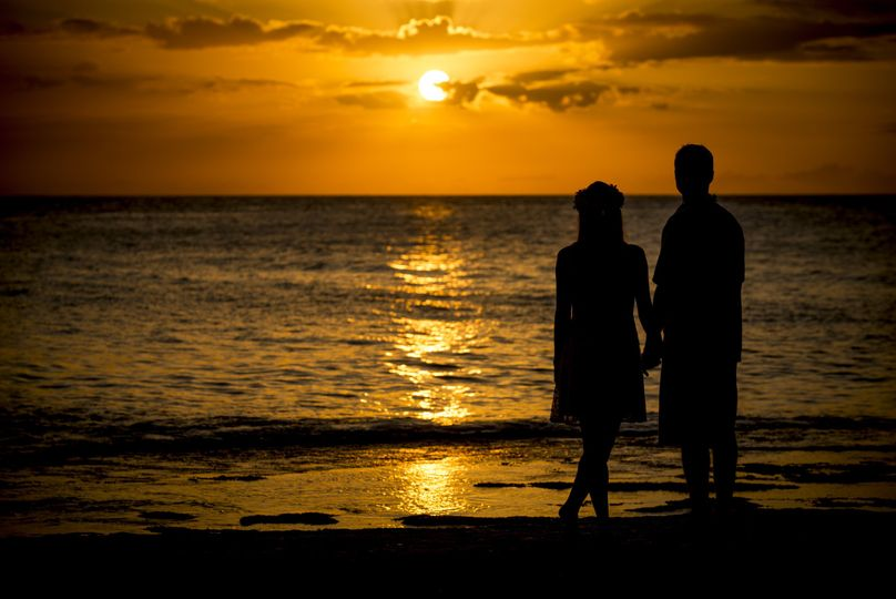 Wedding Photography Oahu's North Shore At Sunset