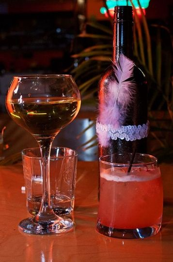 Wine and cocktail