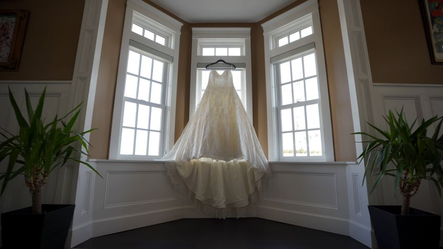 View of wedding dress