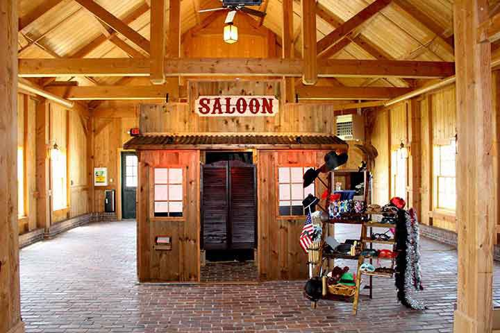Our rustic western saloon photo booth out a wedding held at the Mildale Farm in Kansas.