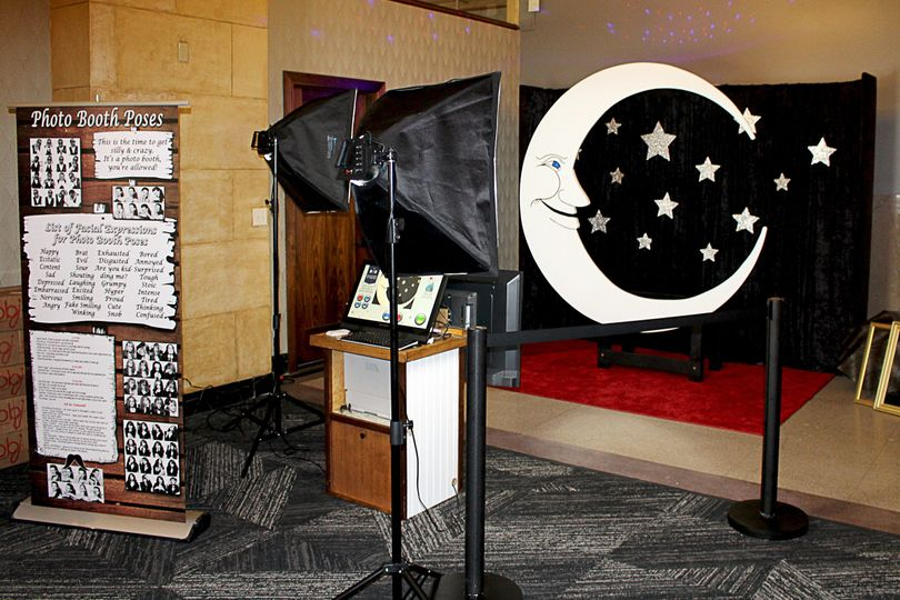 Our moon and stars red carpet backdrop shoot. At the Grand Hall at Power and Light, downtown Kansas...
