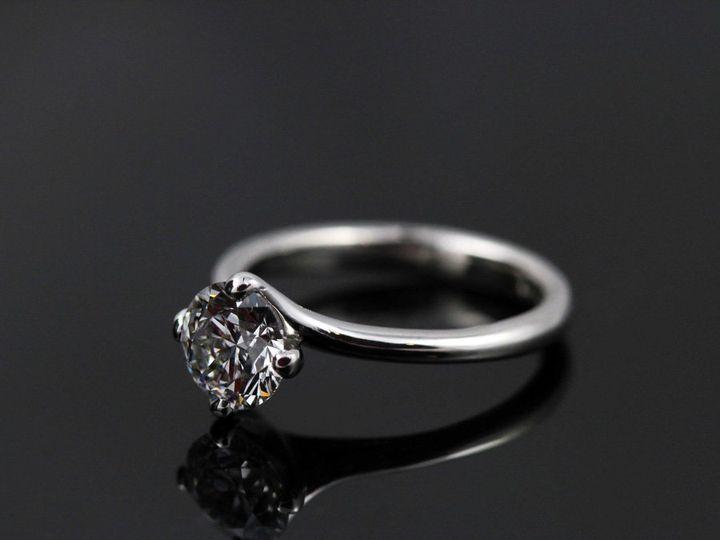 Tmx 1362696318501 PlatTwistDiaSolitaireHD12 Ann Arbor wedding jewelry